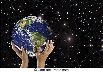 pianeta, elementi, immagine, terra, nasa, ammobiliato, palm., questo