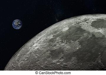 pianeta, elementi, nasa., immagine, terra, luna, ammobiliato, questo