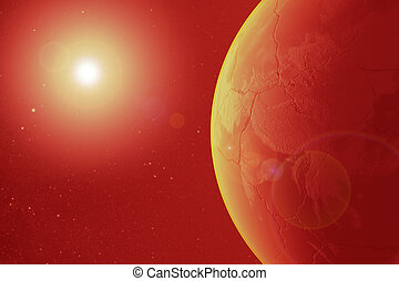 pianeta, elementi, scorched, immagine, terra, morto, nasa, render, apocalisse, ammobiliato, sole, questo, armageddon