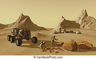 pianeta, esploratori, marte