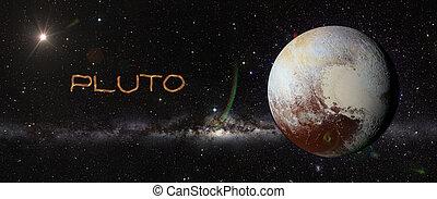 pianeta, esterno, space., plutone