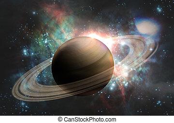 pianeta, galassia, saturno