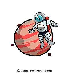 pianeta, giove, astronauta