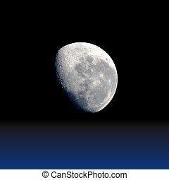 pianeta, luna, realistico, illustrazione, vettore