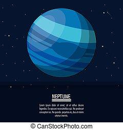 pianeta, manifesto, nettuno, colorito