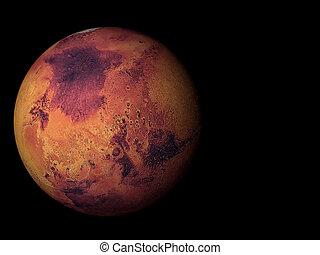 pianeta, marte, 3d