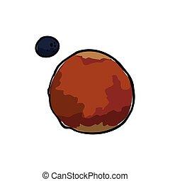 pianeta, marte, icona, spazio