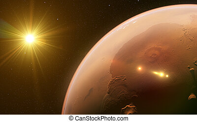 pianeta, marte, spazio