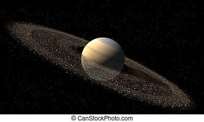 pianeta, modello, saturno, come