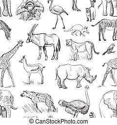 pianeta, modello, seamless, animale