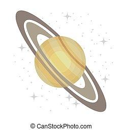 pianeta, modo, isolato, icon., galassia, latteo