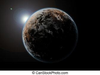 pianeta, paesaggio, spazio