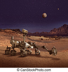 pianeta, perseveranza, esplorare, girovago, superficie, marte