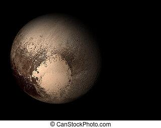 pianeta, plutone, 3d