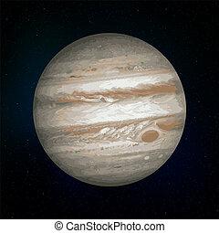 pianeta, realistico, giove