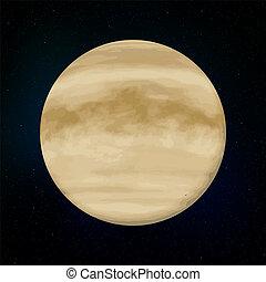 pianeta, realistico, venere