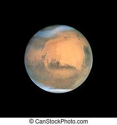 pianeta, realistico, vettore, illustrazione, marte