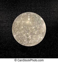 pianeta, render, -, callisto, 3d