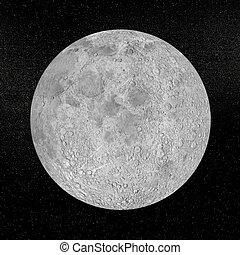 pianeta, render, luna, -, 3d