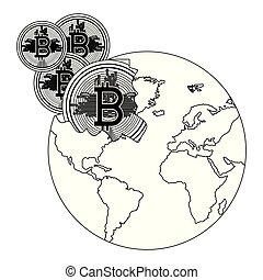 pianeta, rotto, bitcoin