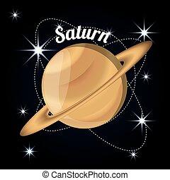 pianeta, saturno, creazione, sistema, solare