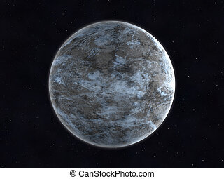 pianeta, sconosciuto, fondo, spazio
