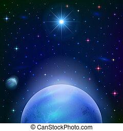 pianeta, sfondo sole, spazio