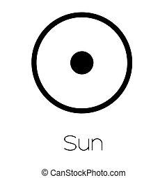pianeta, simboli, -, sole