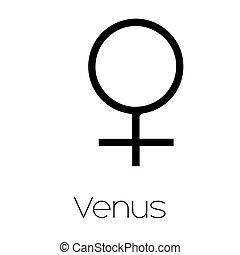 pianeta, simboli, venere, -
