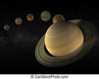 pianeta, sistema, solare