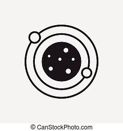 pianeta, spazio, icona