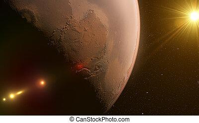 pianeta, spazio, marte