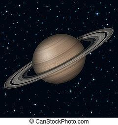 pianeta, spazio, saturno