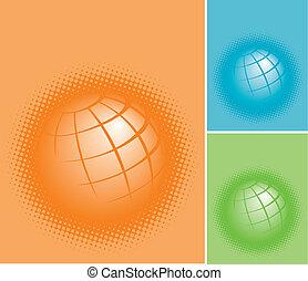 pianeta, terre, tre, colorito