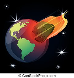 pianeta, universo, asteroide, terra