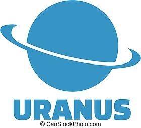 pianeta, urano, icona