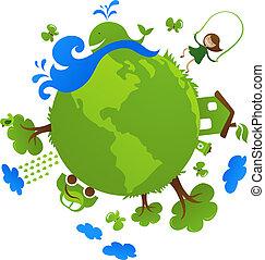 pianeta, verde