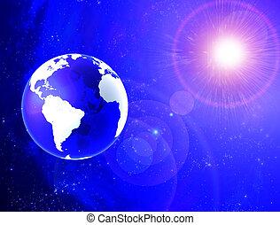 pianeta, vetro