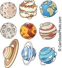 pianeti, cartone animato