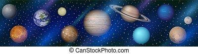 pianeti, seamless, sistema solare