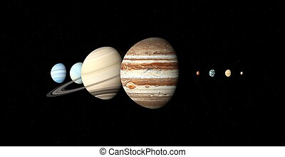 pianeti, sistema, solare