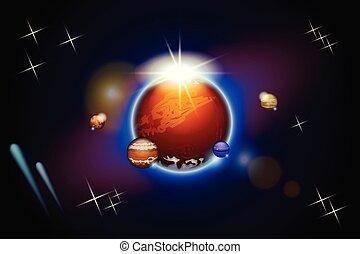 pianeti, spazio, un po'