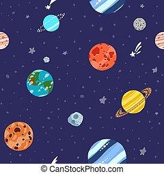 pianeti, stars., spazio, solare, modello