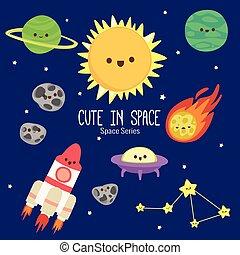 pianeti, un po', colorito, carino, caratteri