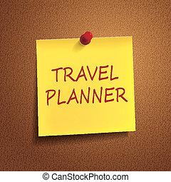 pianificatore, parole, viaggiare, posto-esso