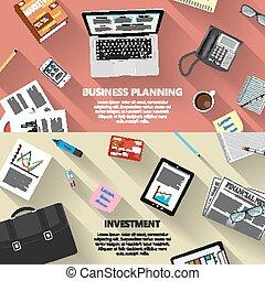 pianificazione, investimento, concetto, affari