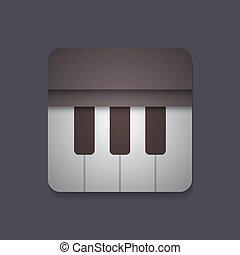 pianoforte, icona