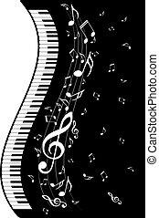 pianoforte, note musica, tastiera