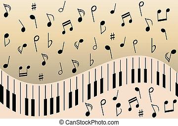 pianoforte, note musica