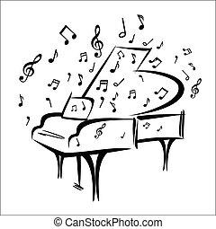 pianoforte, schizzo